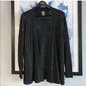 White Stag Black Top Type Cardigan Sz XXL sequins